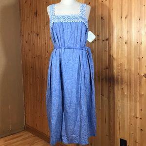 NWT Isabel Maternity's Denim Tie Waist XXL Dress